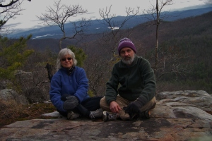 Atop the rocks at Black Fork climbing area