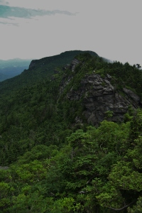 Northeast view toward Calloway Peak and Profile Rock