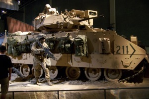 Bradley light armored troop transport