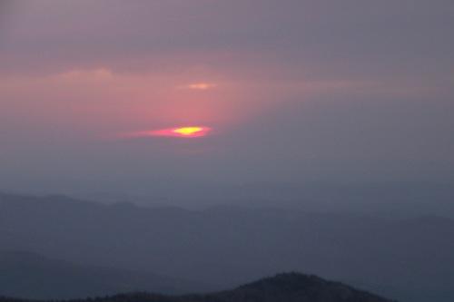 Clouds Obscured Horizon Sunrise