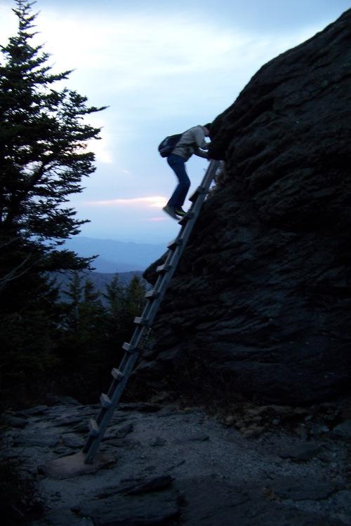 Coming off McCrae Peak