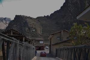 Ollantaytamba Temple site, terraces, and village
