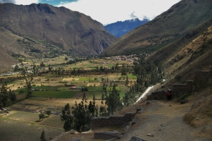 Sacred Valley Downstream of Temple Site above Ollantaytamba