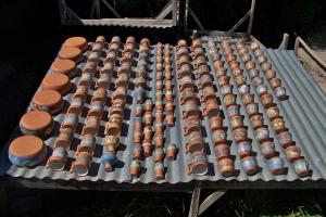 Painted, glazed, kiln dried, sun drying